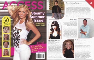 Bagsby is featured in Access Magazine